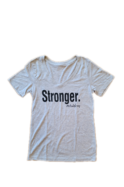 Stronger Ladies Fitted Tee – V-Neck