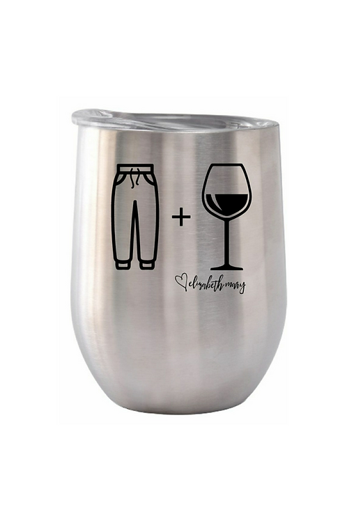 Silver Stainless Steel Wine Glass
