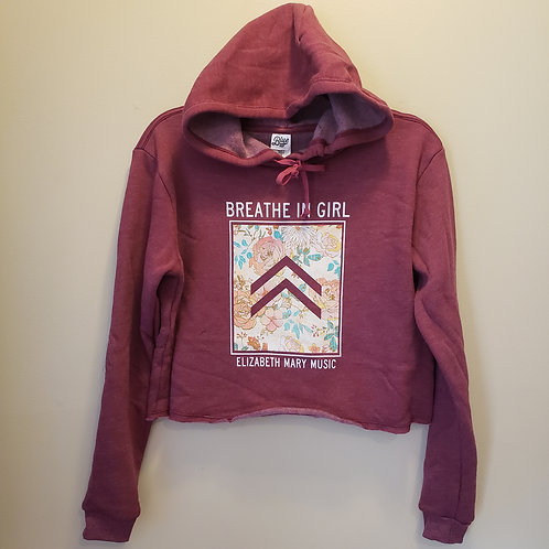 Breathe in Girl Crop Hoodie