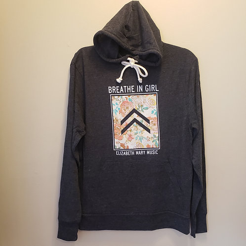Breathe in Girl Lightweight Tri-Blend Hoodie