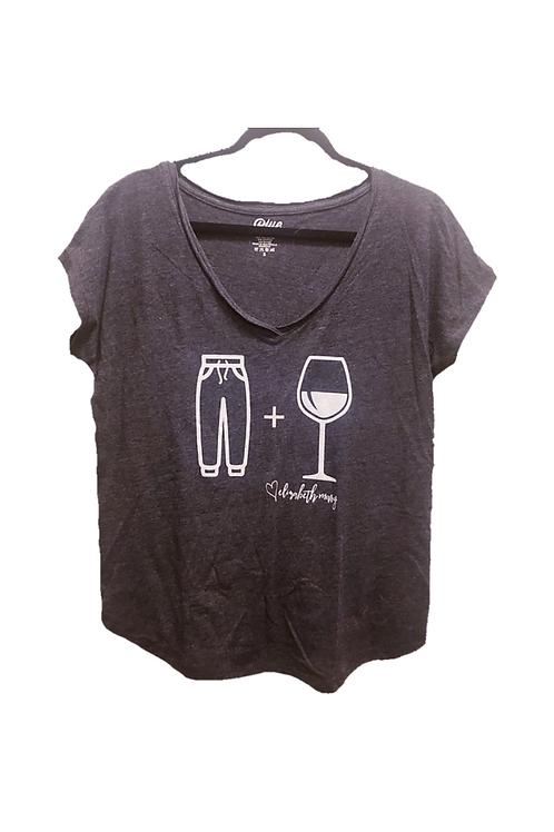 Sweatpants and Wine Ladies Tri-Blend V-Neck
