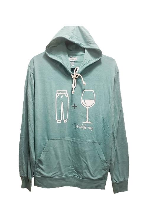 Sweatpants and Wine Lightweight Tri-Blend Hoodie