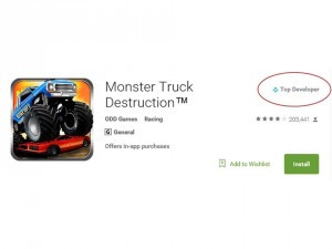 GOOGLE PLAY STORE RECOGNISES ODD GAMES AS A 'TOP DEVELOPER'