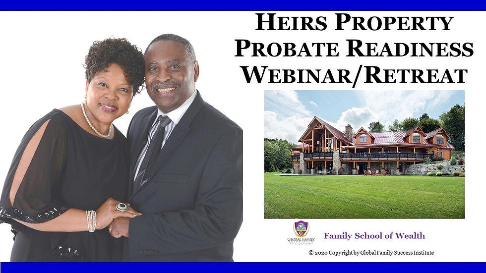 Heirs Property Probate Readines Program