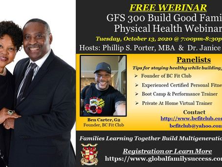 Invitation To: GFS Build Good Family Health Webinar