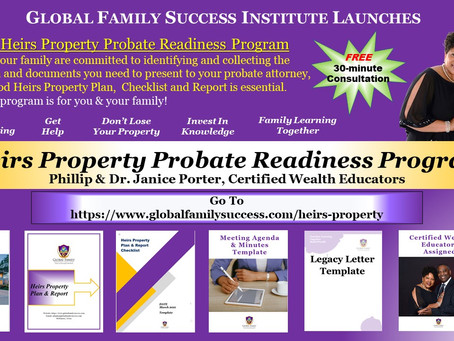 Global Family Success Institute Launches New Wealth Building Program