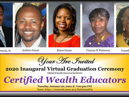GLOBAL FAMILY SUCCESS INSTITUTE, CELEBRATES GRADUATES WITH VIRTUAL CEREMONY, JANUARY 26, 2021