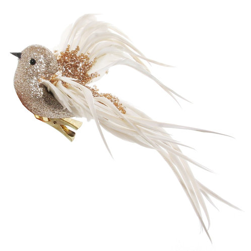 BEADED BIRD ON CLIP