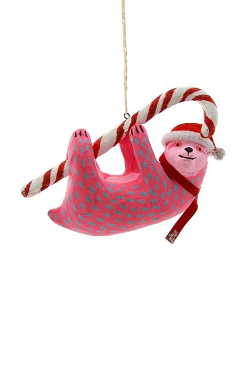 CANDYCANE SLOTH ORNAMENT