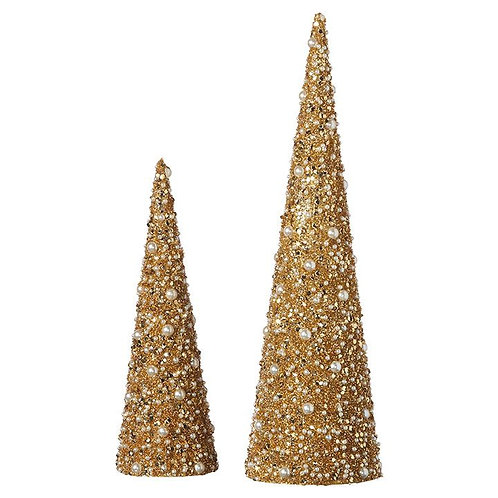 CONE TREE WITH PEARLS