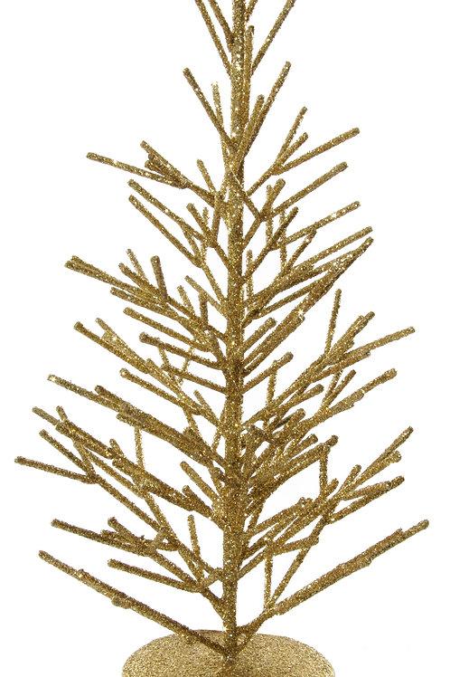 GLITTERED METAL TREE GOLD