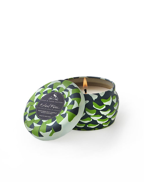 Roland Pine Small Tin Soy Candle 3oz
