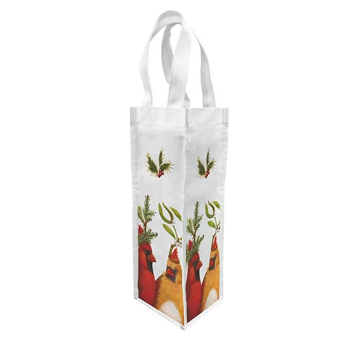 Holiday Party Canvas  Wine Bag