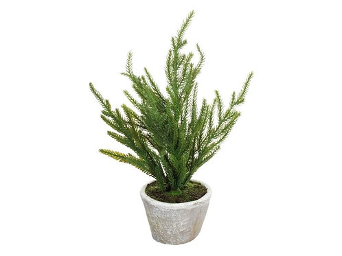 FAUX POTTED PINE 15""