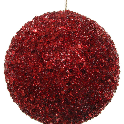 SEQUIN ORNAMENT RED