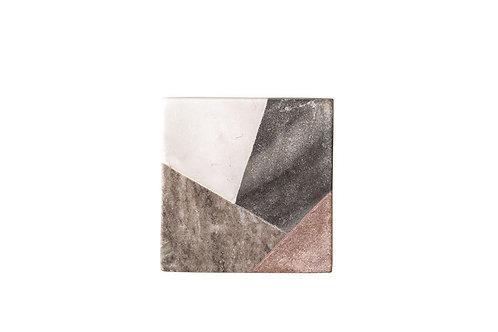 Square Geometric Marble Coaster Set