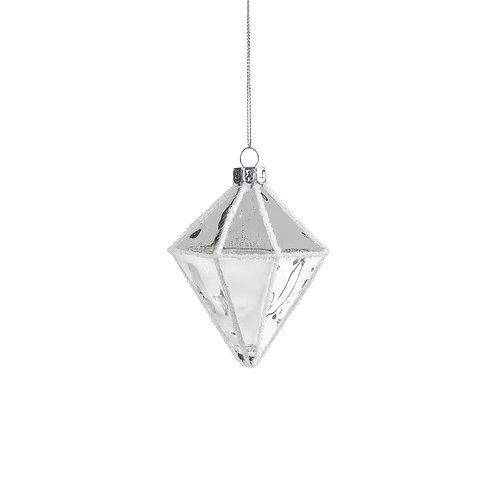 DIAMOND ORNAMENT SILVER/WHITE