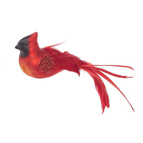 CARDINAL ON CLIP RED