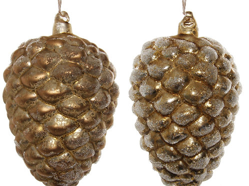 ICED PINECONE ORNAMENT