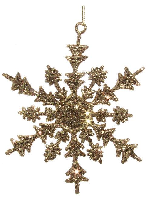 SNOWFLAKE ORNAMENT GOLD