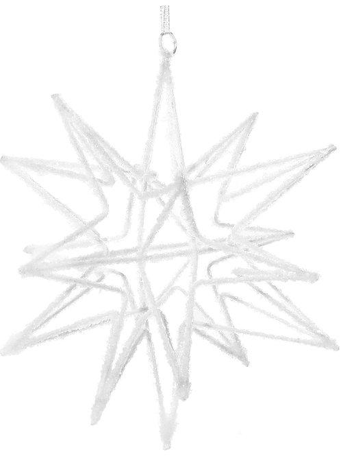 METAL STAR ORNAMENT WHITE