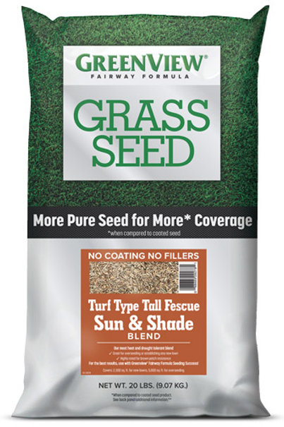 Greenview Grass Seed - Turf Type Tall Fescue - Sun & Shade Blend 20lb