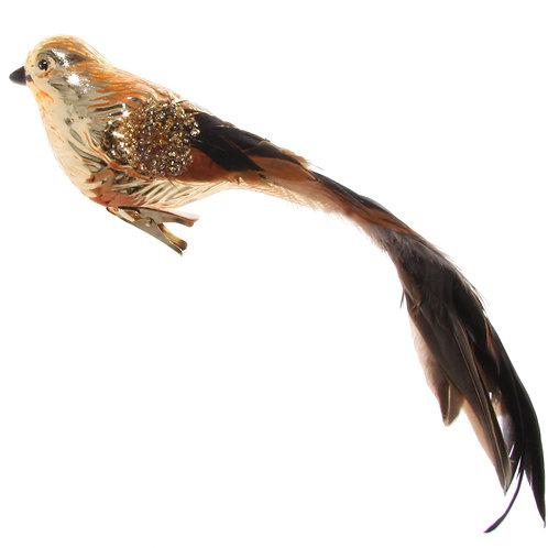 SHINY BIRD ON CLIP GOLD