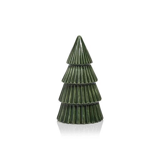 GLAZED CERAMIC TREE GREEN