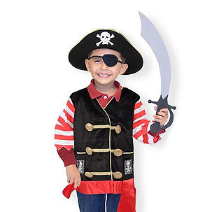 Boy in pirate costume