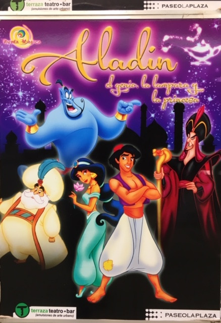 Buenos Aires poster for Aladdin, a winter vacation play