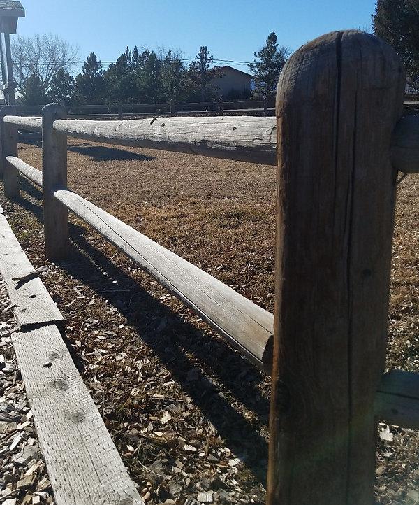 standard 2 rail fence
