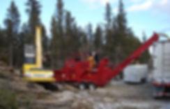 Rotochopper MC266 Hoizontal Grinder, Kobelco Loader