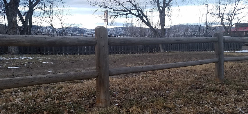 Western 2 Rail Fence, Post & Dowell Fence,