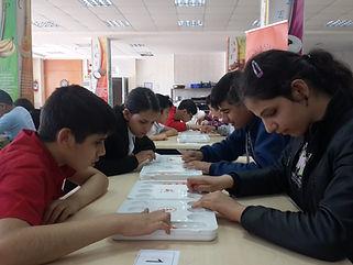 braille alfabeli kabartma mangala oyun seti
