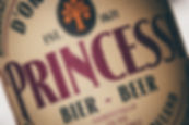 The details of the d'Oranjeboom Princesse luxury craft beer front label