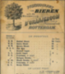 The old price list of d'Oranjeboom luxury beer