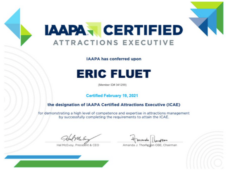 Eric Fluet Awarded Coveted ICAE Designation Demonstrating A High Level of Competence and Experience