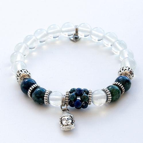 Bracelet Azurite quartz
