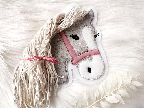 "Aufnäher/Patch Pferd ""Lulu"" (grau)"