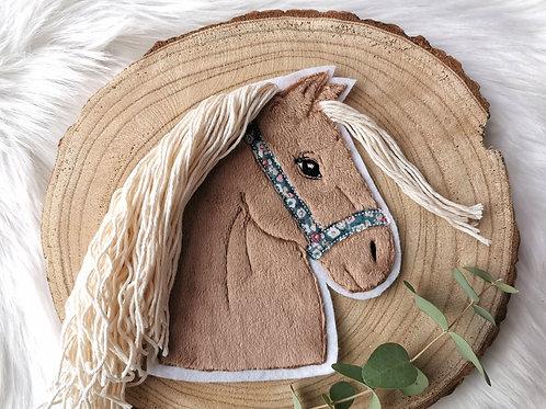 XL Aufnäher/Patch Pferd mit Halfter