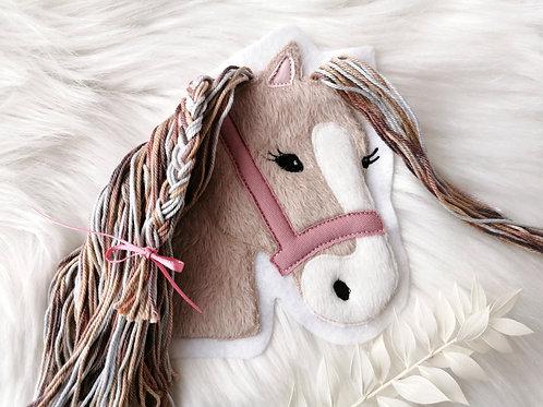 """Aufnäher/Patch Pferd """"Lulu"""" (hell) altrosa"""