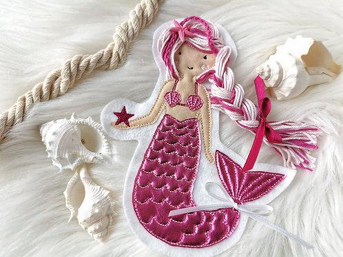 Aufnäher/Patch Meerjungfrau, Nixe pink