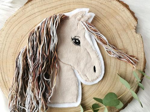 XL Aufnäher/Patch Pferd mit Blesse