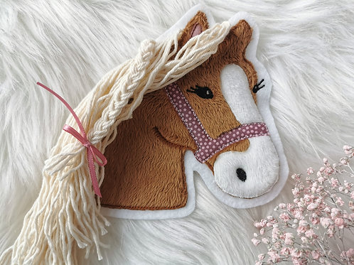 """Aufnäher/Patch Pferd """"Lulu"""" dotty  (braun)"""