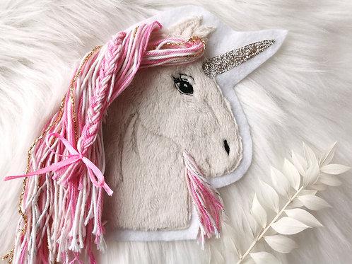 """Aufnäher/Patch Pferd """"Einhorn"""" rosa"""