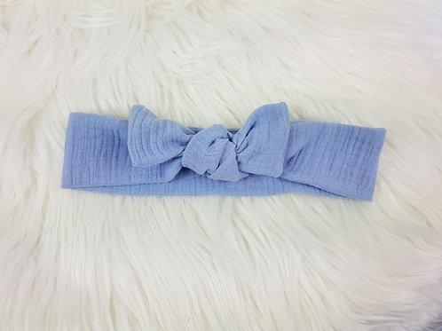 """Knotenhaarband, Haarband """"hellblau"""""""