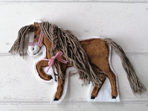 Aufnäher/Patch Pferd braun