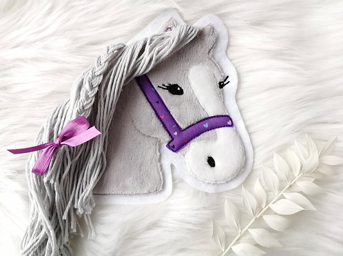"Aufnäher/Patch Pferd ""Lulu""(hellgrau)"