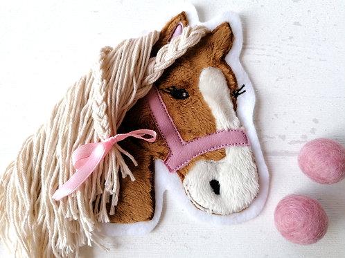 """Aufnäher/Patch Pferd """"Lulu"""" braun"""