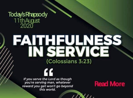 Rhapsody of Realities For Today!
